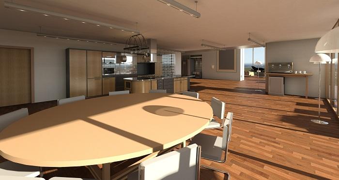Kuchyňa s obývačkou v jednej miestnosti